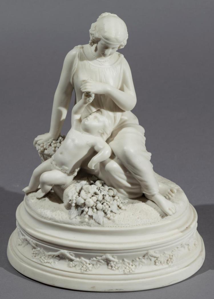 Parian Ware Figural Group