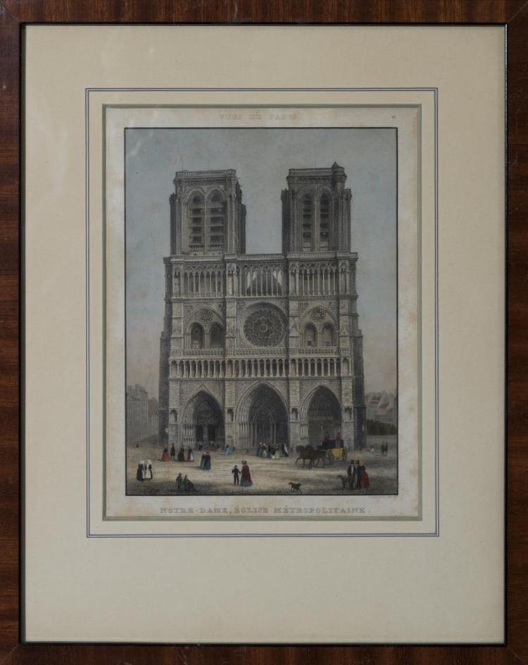 Chaumouin, French (19th century), Vues de Paris: Notre Dame; Veduta di Parici; Colonne de la Place Vendome; Arc de Triomphe; Nouveau...
