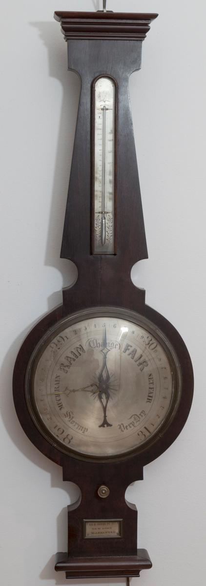 Rare Circa 1841 American Wheel Barometer by George Leone, New York