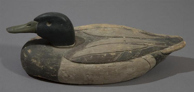 Balsa Wood Mallard Duck Decoy, Circa 1940''s