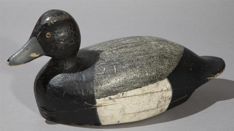 Black and Grey Blue Bill Decoy, Circa 1890''s