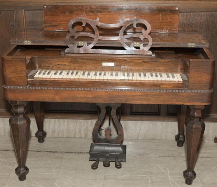 Antique Rosewood American Melodeon, circa 1845