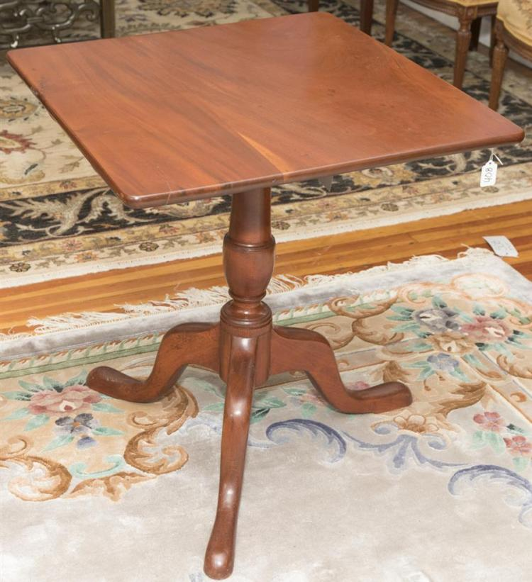 19th Century American Cherry Tilt Top Table