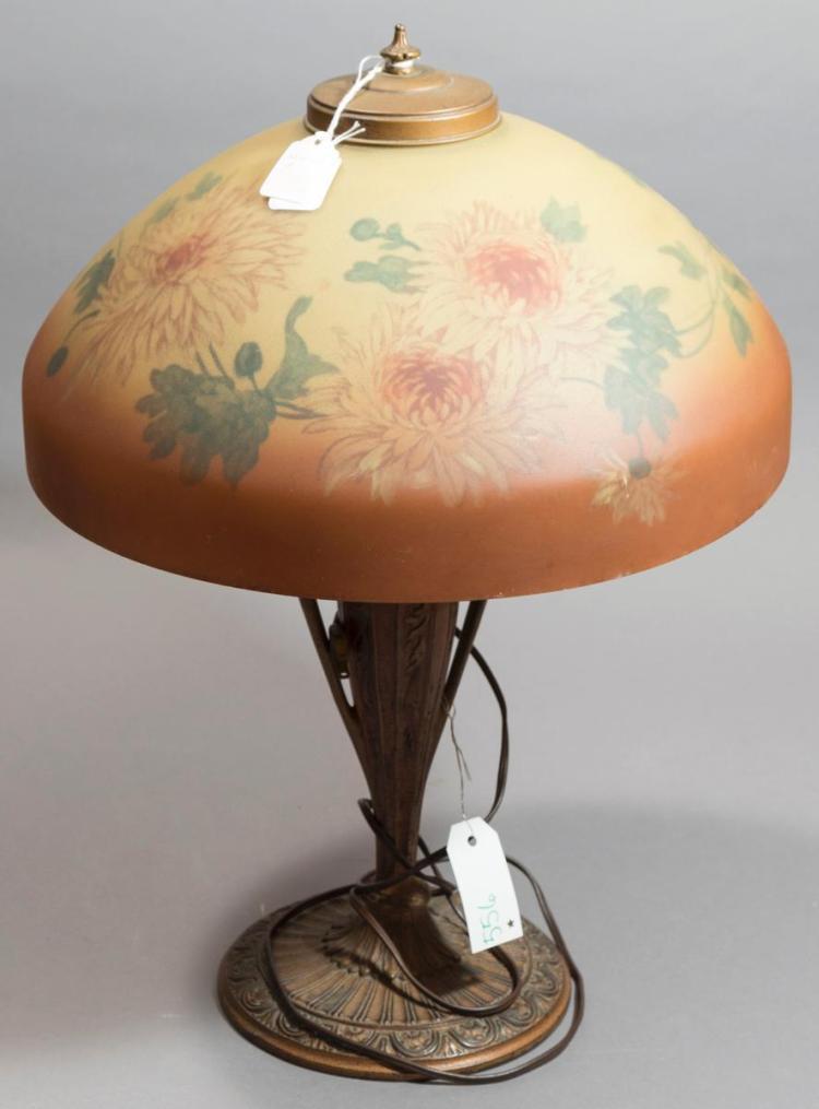 Art deco period gilt metal base table lamp for Art deco era dates