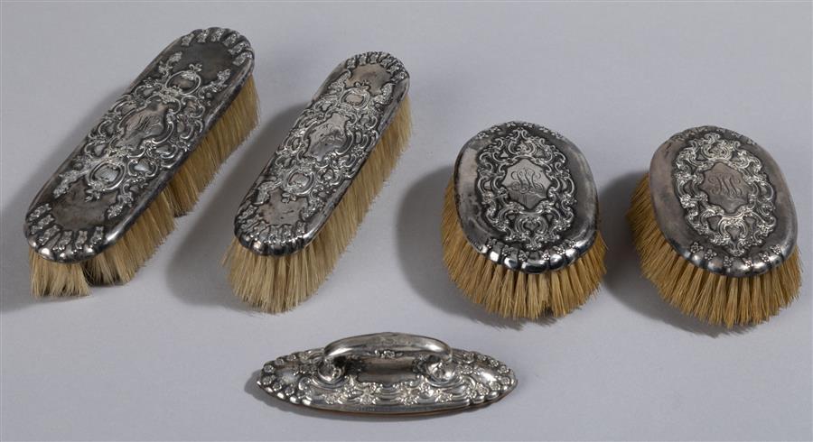 the best attitude c1adf 1446f Tiffany Art Nouveau Sterling Silver Dresser Set