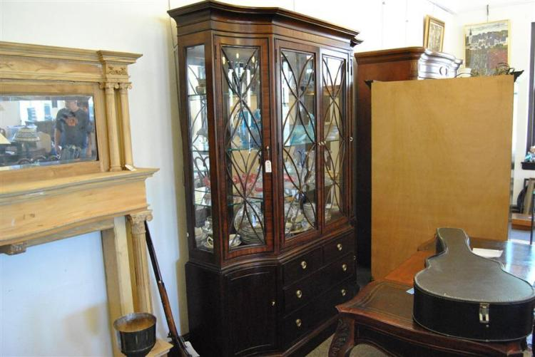 american drew furniture china cabinet with four doors above