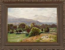 Alexander Lawrie, Jr., New York/ Indiana (1828-1917), Mountain landscape, oil on canvas, 14 x 20 inches