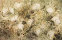 Lee Weiss, Wisconsin (b. 1928), Weeds #3, 1967, watercolor on paper, 25 1/2 x 39 1/2 inches