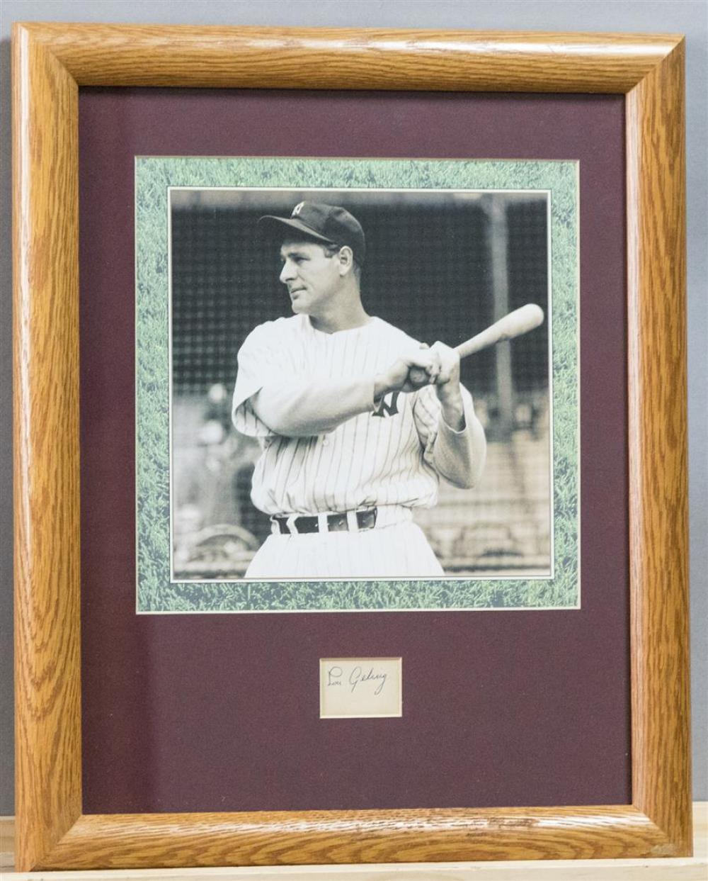 626f9b25c Lou Gehrig cut signature and photograph