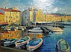 Nino Pippa, Italian (b. 1950), Saint Tropez, Cote d'Azur, oil on board, 12 x 16 inches, Nino Pippa, Click for value