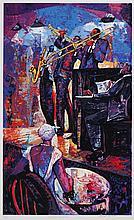 William Tolliver, American (1951-2000), Midnight Serenade, serigraph, 36 3/4 x 22 1/2 inches
