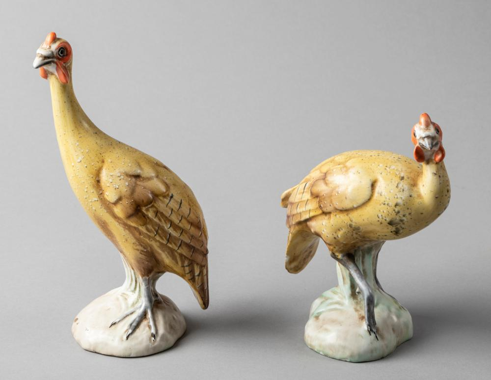 Pair of Italian Porcelain Figures of Partridges, Late 19th-Early 20th Century