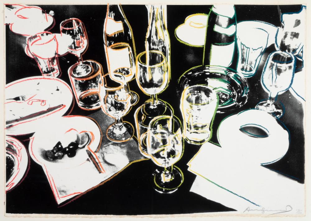 Andy Warhol, American, (1928-1987), After the Party, 1979, screenprint in colors, ed. 136/1000, 21 5/8 x 30 3/8 inches