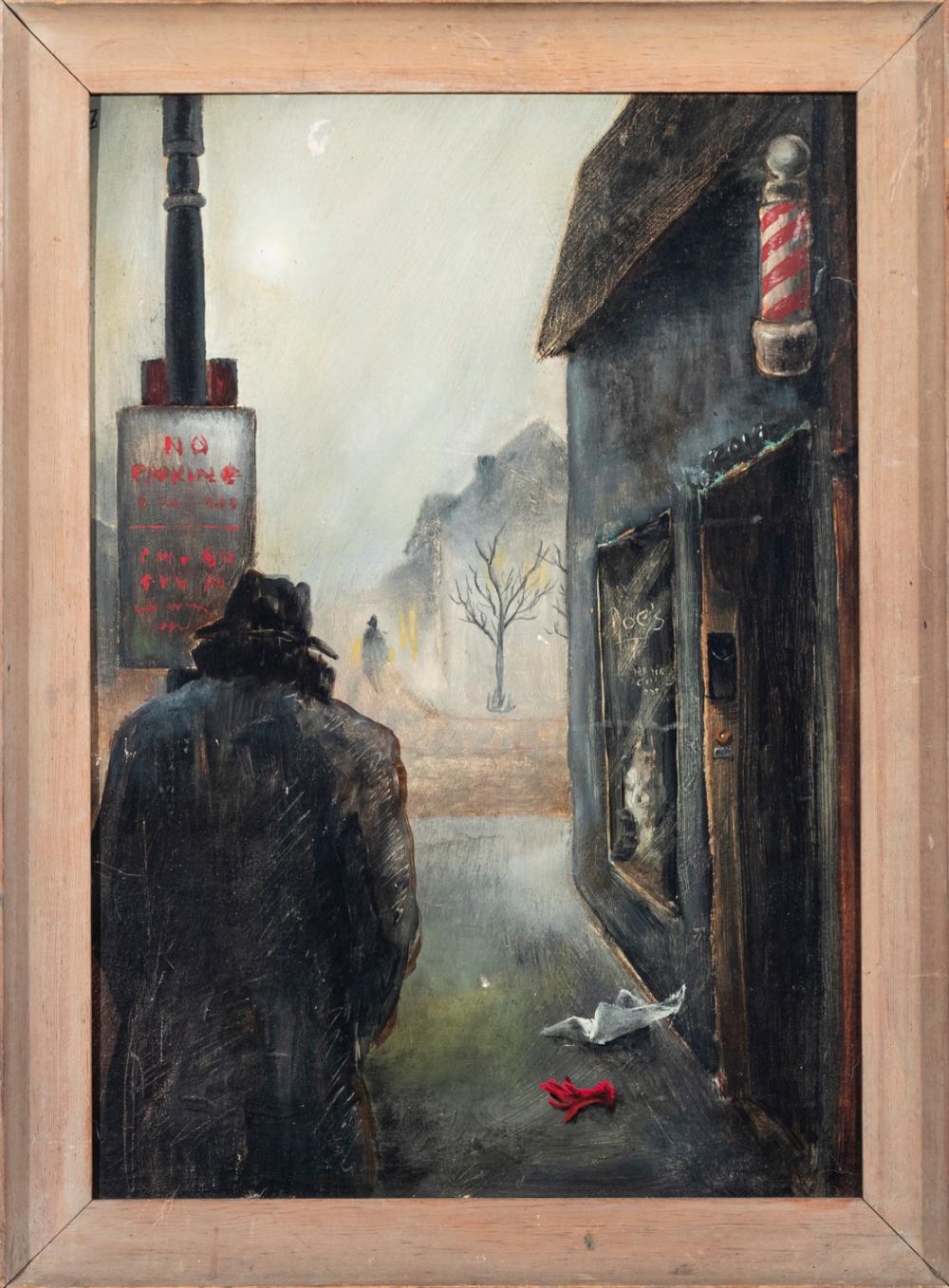 Keith Pitzler, Virginia, 20th century, The Lost Glove, oil on canvas board, 20 x 14 inches