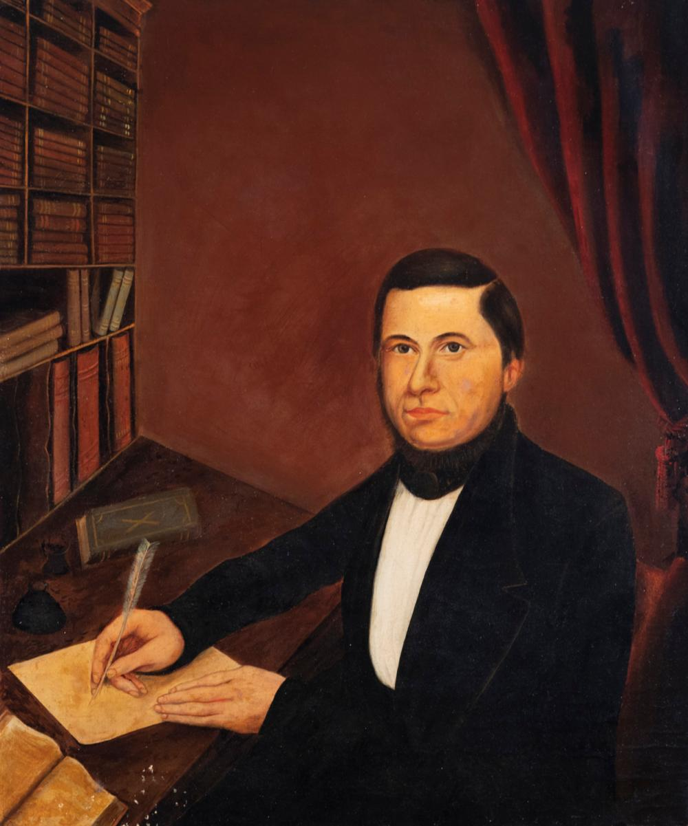 American School, 19th century, Portrait of a gentleman, oil on canvas,