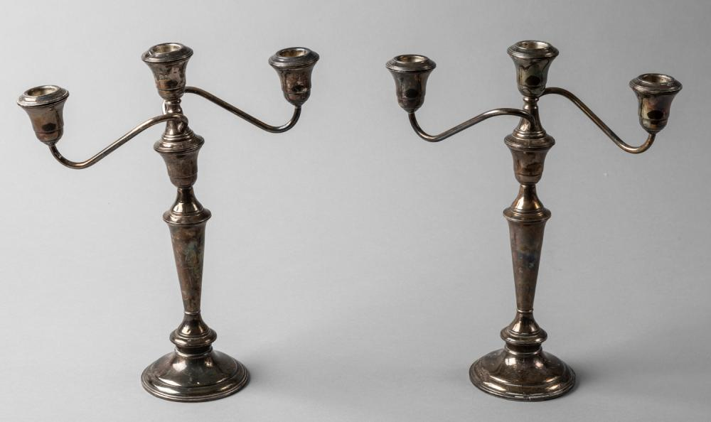 Pair of Weighted Sterling Candelabra