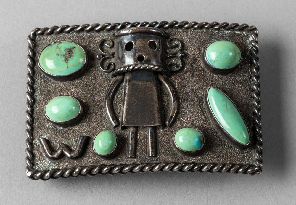 American Indian Silver Buckle