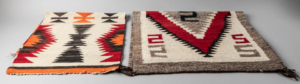 Two Navajo Wool Textiles