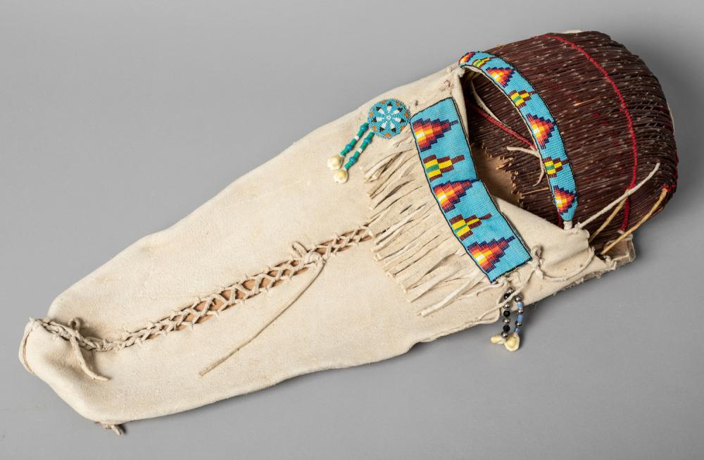 A Traditional Ute Beaded Cradleboard