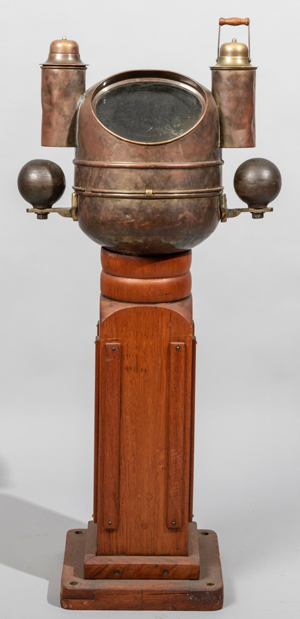Antique Nautical Binnacle on Wooden Stand