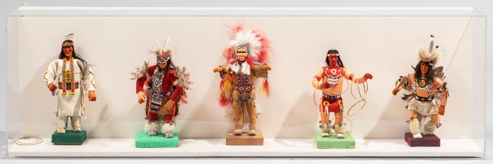 Five Handmade Sioux Indian Dolls, 20th Century