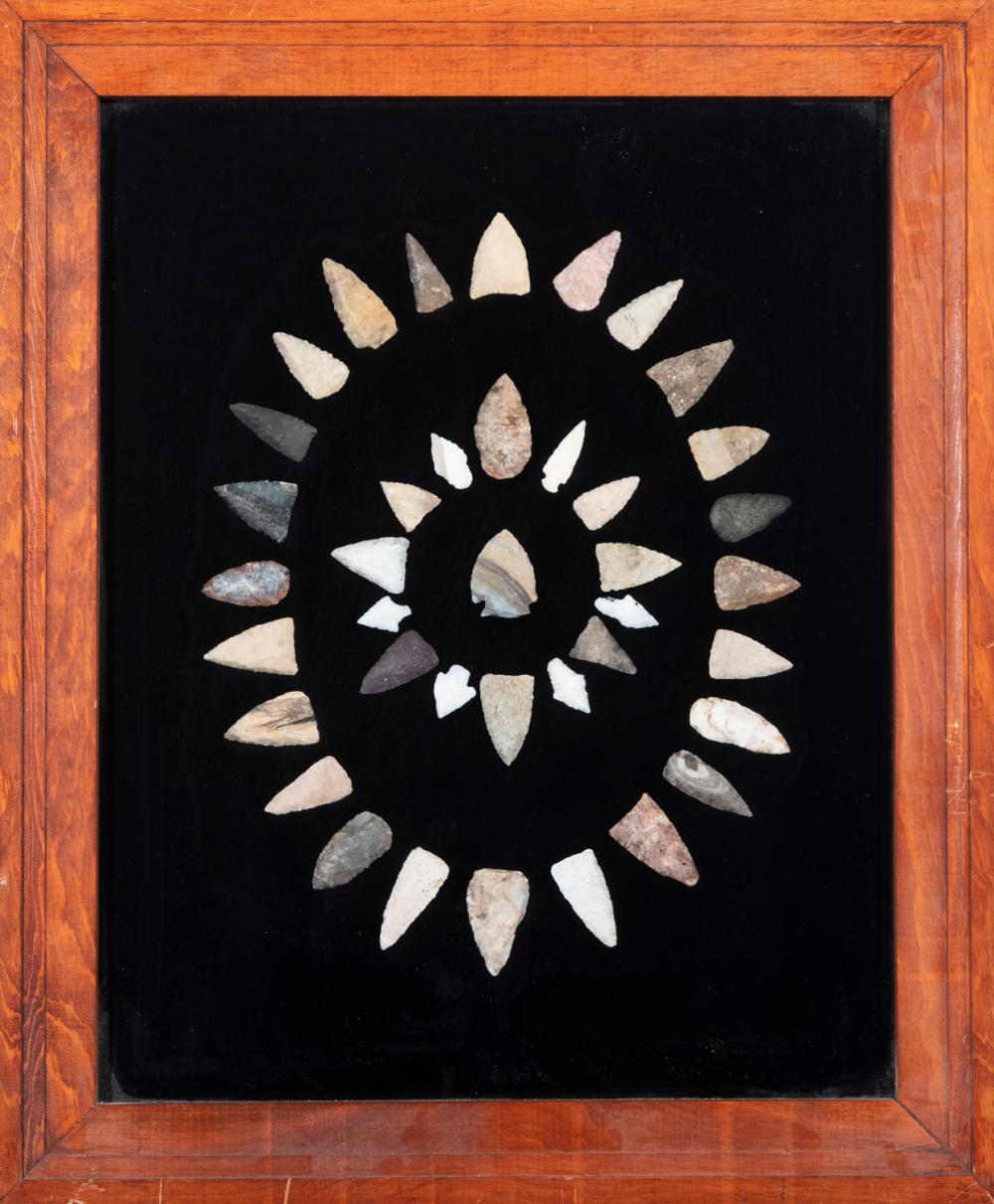 Collection of 39 Native American Arrowheads