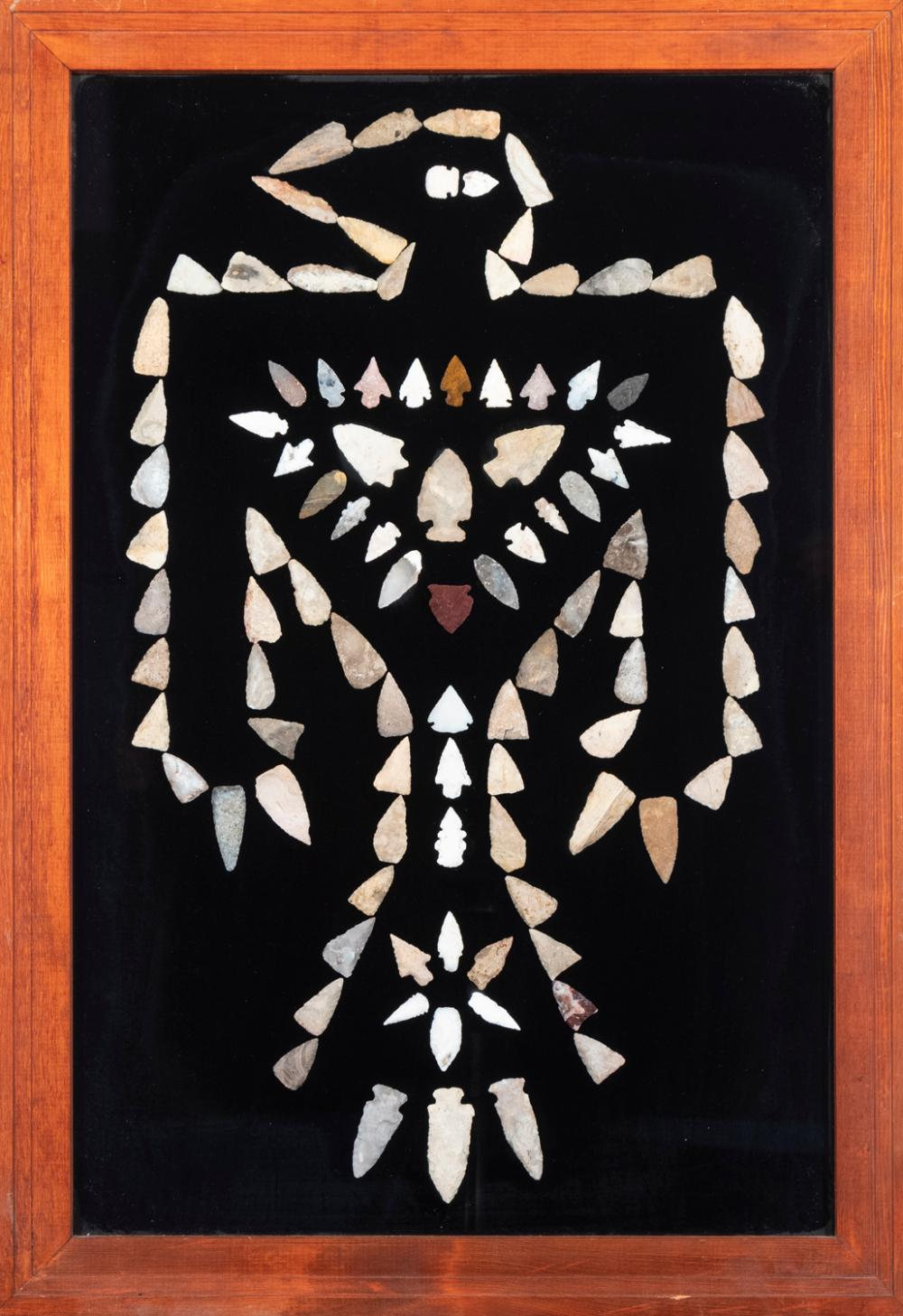 Framed Collection of 100 Arrowheads