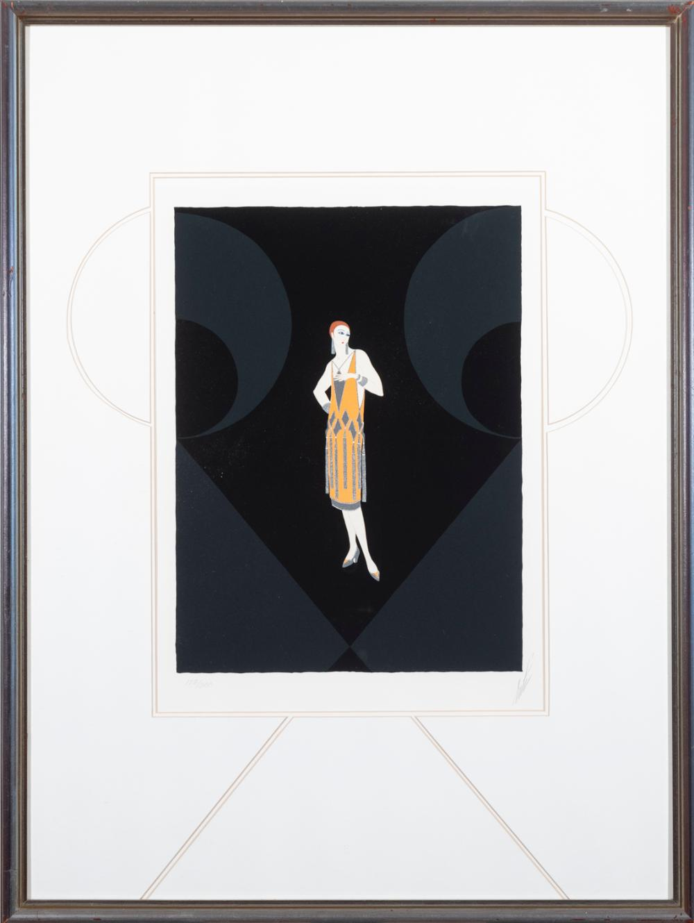 Romain de Tirtoff Erte, Russian/French (1892-1990), Manhattan Mary, serigraph, ed. 128/300, 18 x 13 1/2 inches