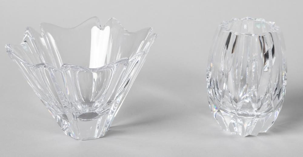 Orrefors Crystal Vase and Centerpiece Bowl