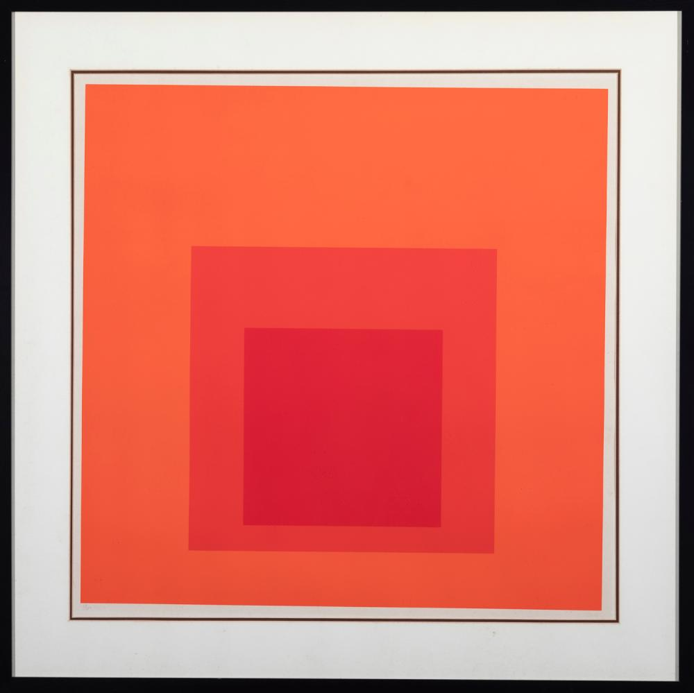 Josef Albers, American/German (1888-1976), Untitled from Hommage to the Square series, 1968, screenprint, ed. 68/100, 23 1/2 x 23 1/...