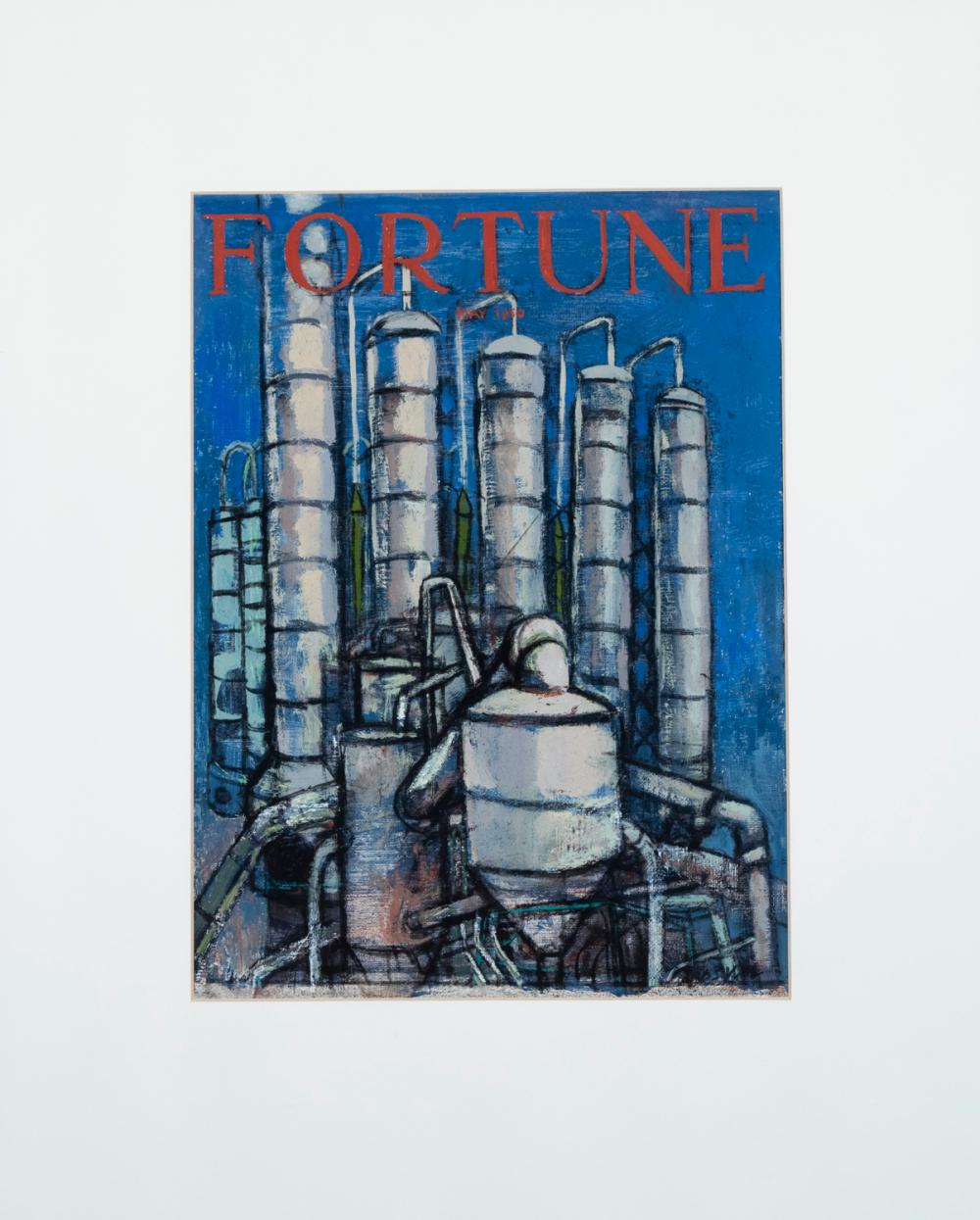 Arthur Osver, American (1912-2006), Study for Fortune Magazine Cover Illustration, for the May 1950 issue: The Chemical Century, oil...