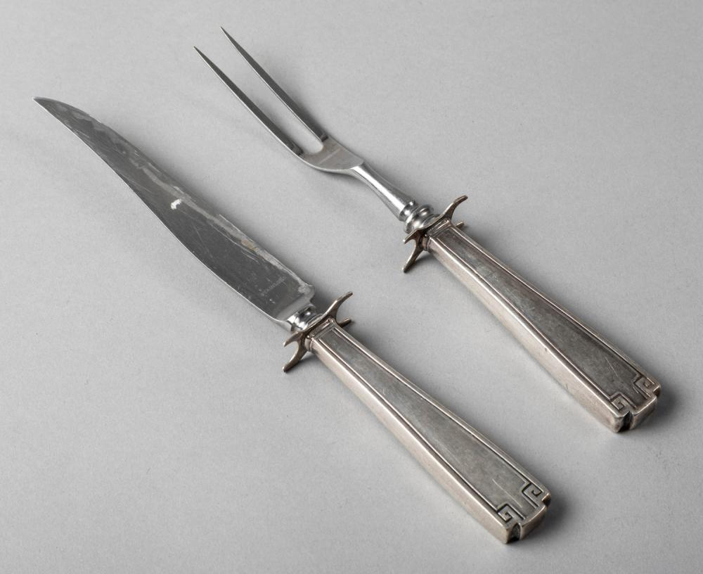 Two Piece Sterling Silver Carving Set