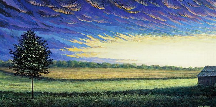 Orval Reeves, American (b. 1949), Incoming Storm, 2006, acrylic on masonite,