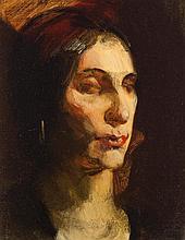 Ferdinand E. Walcher, American (1895-1955), Quiet Solitude, oil on canvas board, 9 1/2 x 7 1/2 inches