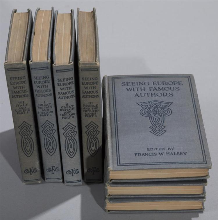 Halsey, Francis W. : Seeing Europe with Famous Authors; Funk & Wagnalls, 1914 vols 1-7