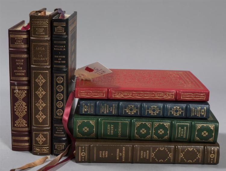 Collection of seven signed first edition books including