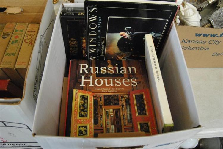 Collection of assorted books on Russian art, Modern art, and more