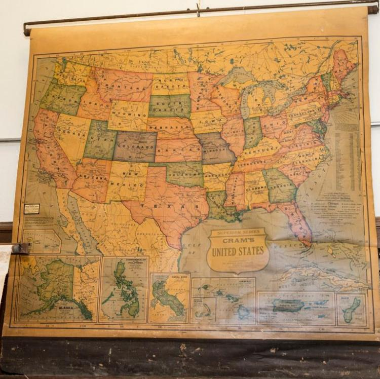 Cram's United States school map