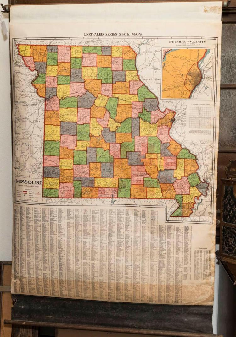 Map of Missouri published by A