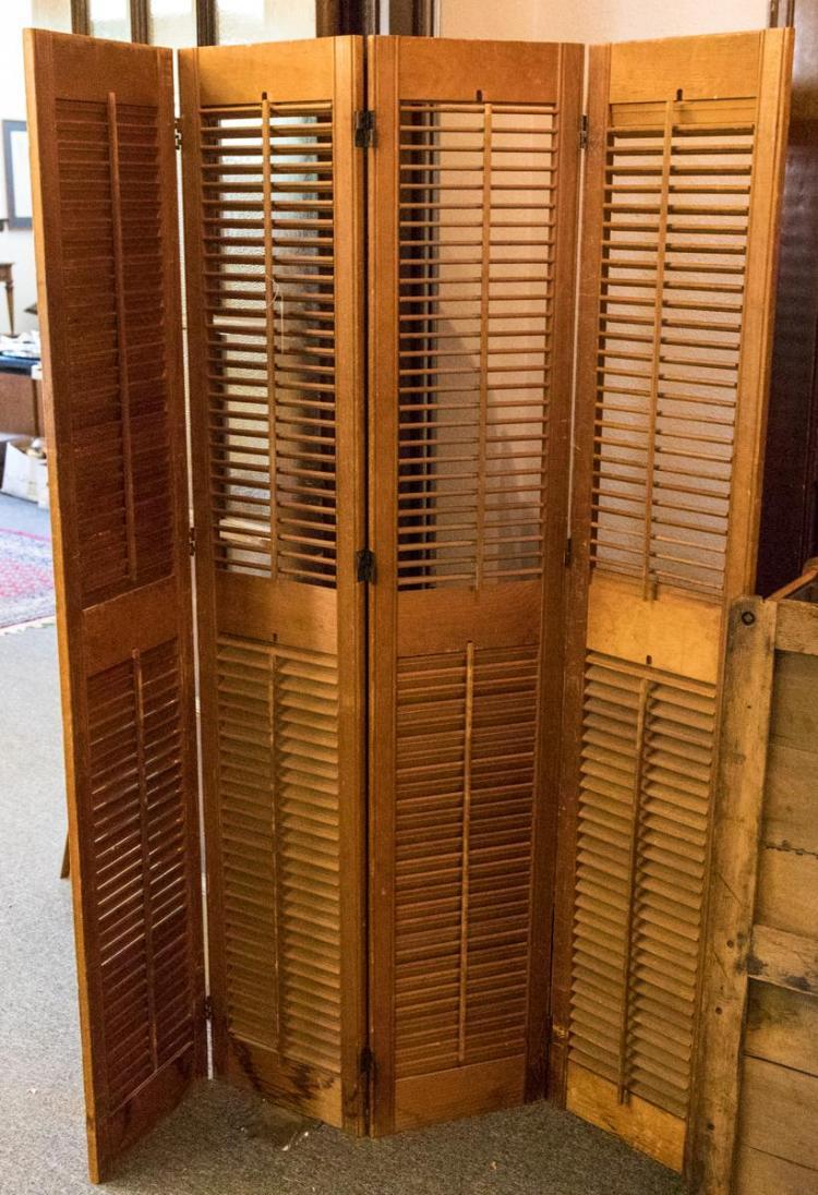 Four panel shutter room divider for Four panel room divider screen