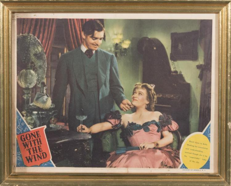Gone With the Wind original lobby card depicting Rhett Butler and Belle Watling
