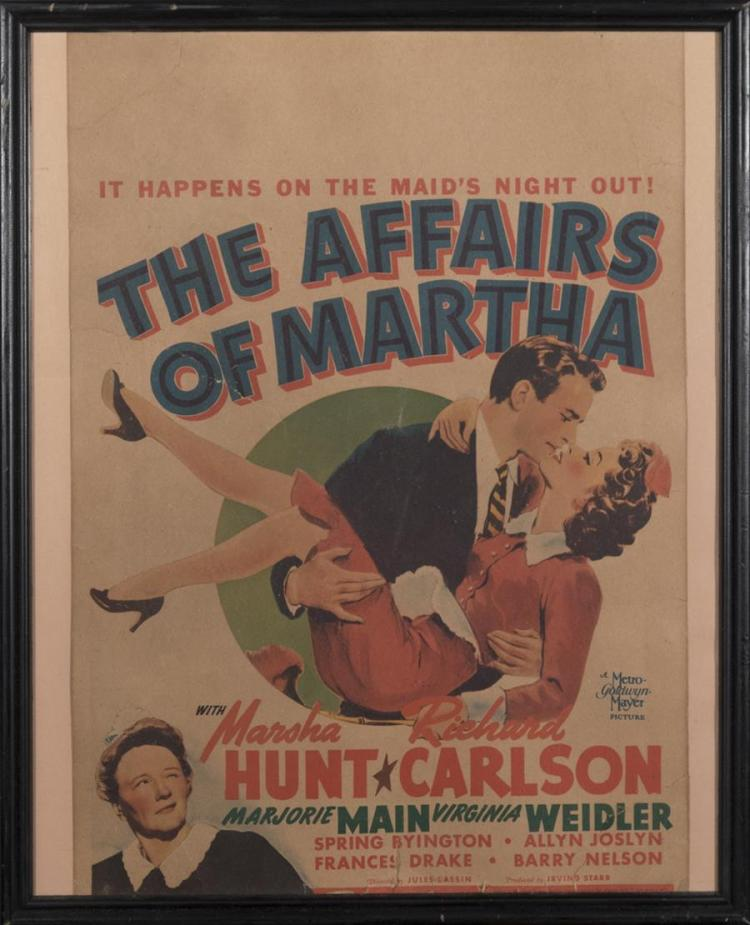The Affairs of Martha, 1942, window card