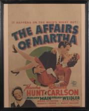 The Affairs of Martha, 1942, window card