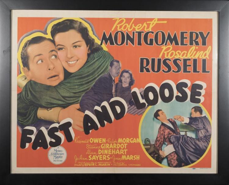 Fast and Loose, 1939 half sheet movie poster
