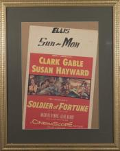 Soldier of Fortune, 1955, window card