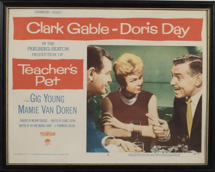 Teacher's Pet, 1958, with Clark Gable and Doris Day, lobby card
