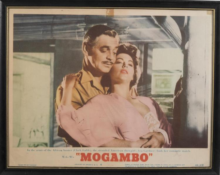 Mogambo, 1953, with Clark Cable, lobby card.