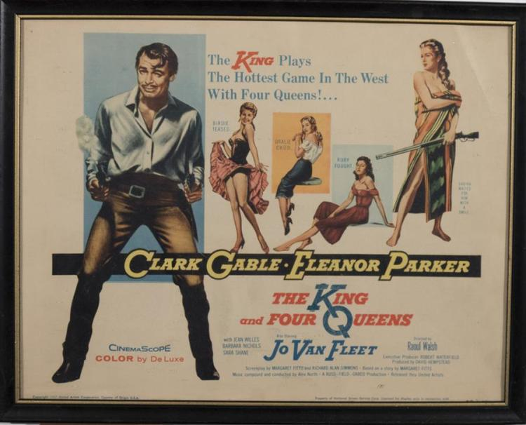 The King and Four Queens, 1957, with Clark Gable and Jo Van Fleet, lobby card.
