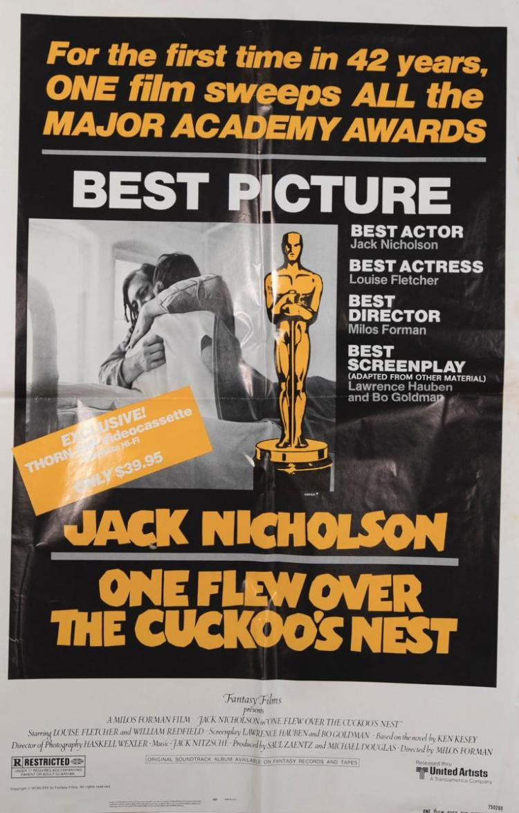 One Flew Over the Cuckoo's Nest, 1975, one sheet original poster