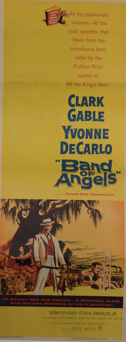 Band of Angels, 1957, with Clark Gable and Yvonne DeCarlo, insert poster